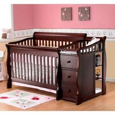 convertible baby cribs with changing table 4-in-1 convertible crib and changing table baby nursery furniture QQPUWLZ