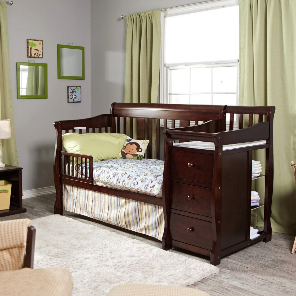 convertible baby cribs with changing table divine storkcraft portofino convertible crib changing table 04586 479 for YJPCINB