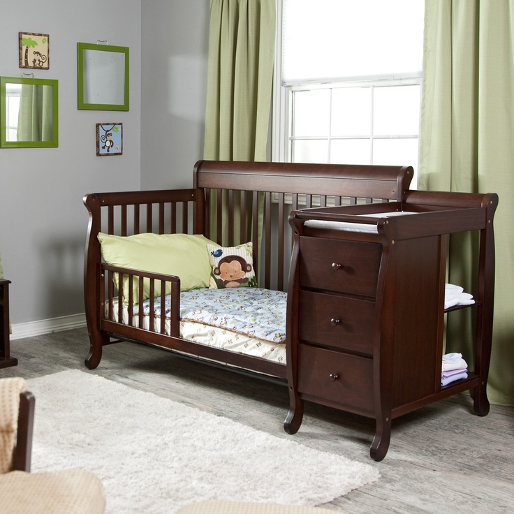 convertible baby cribs with changing table ... large (large: 736x736 pixels). modern crib changing table ... MLSNNPM
