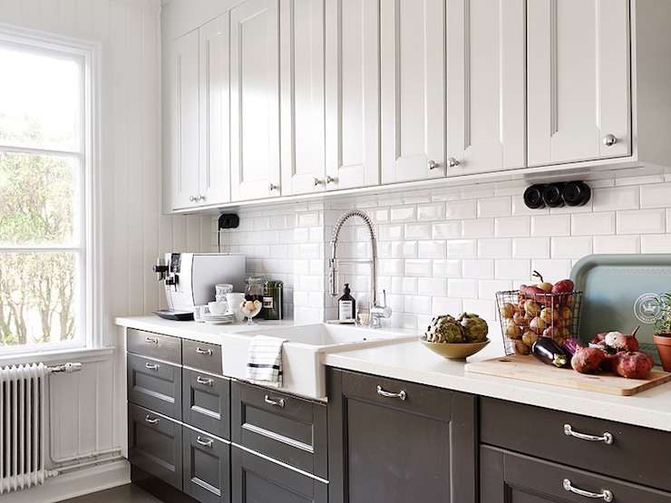 cool black and white kitchens with a splash of colour MHZPMHH