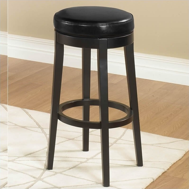 Aesthetic Counter Height Backless Swivel Bar Stools