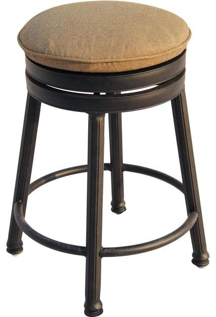 counter height backless swivel bar stools darlee outdoor living backless cast-aluminum swivel counter-height stool XUFUNFI