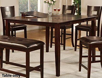 Counter Height Dining Table with Butterfly Leaf counter height dining table with butterfly leaf in dark brown QXJKHLN