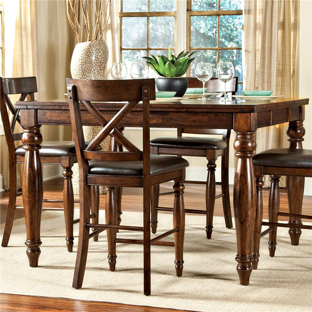 Counter Height Dining Table with Butterfly Leaf intercon kingston gathering table - item number: kg-ta-5454g-rai- UJOSRVA