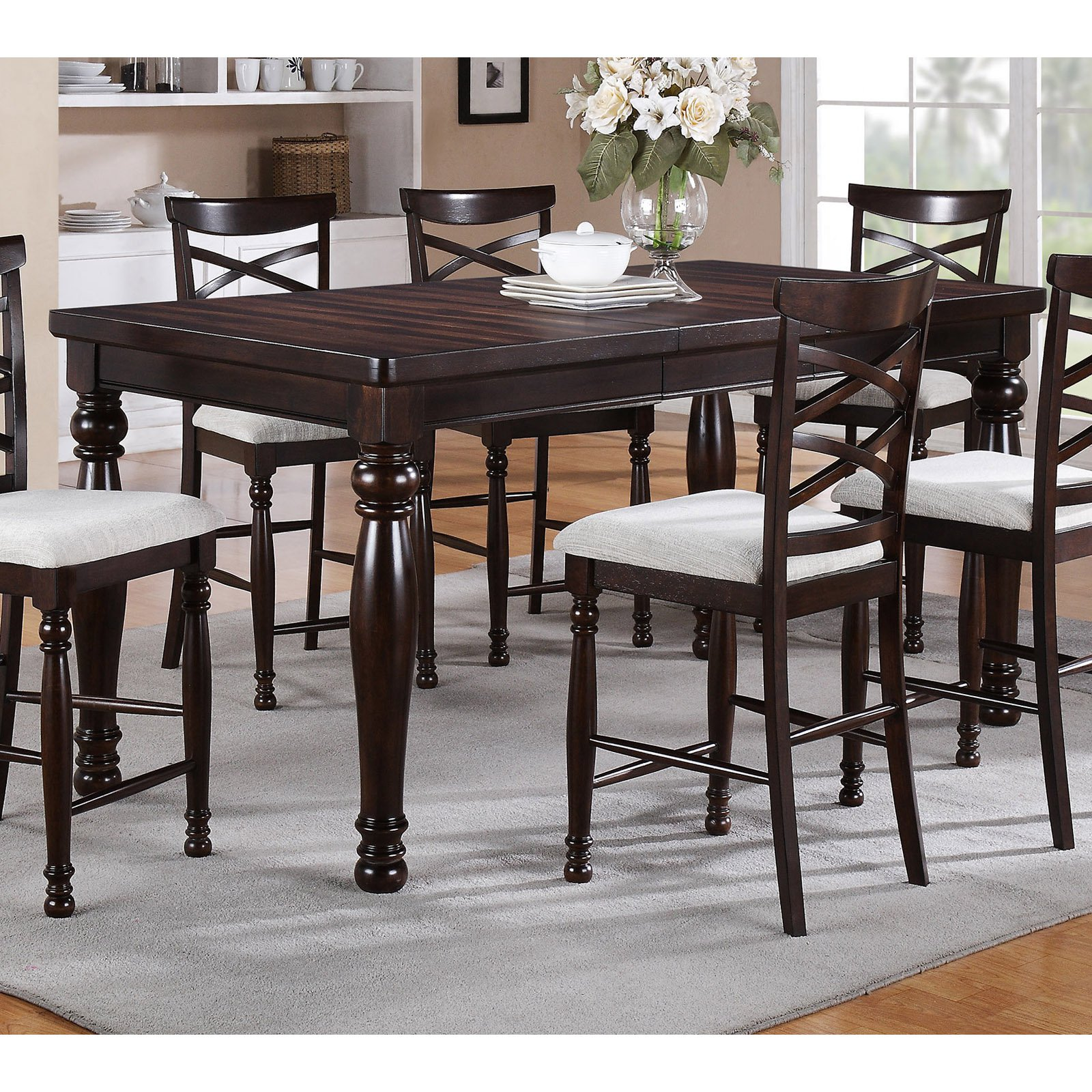 Counter Height Dining Table with Butterfly Leaf winners only hamilton park counter height dining table with 18 UKDDGRO