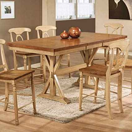 Counter Height Dining Table with Butterfly Leaf winners only quails run counter height dining table with 18 YRKUZSY
