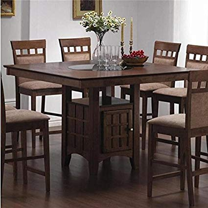 counter height dining table with storage mix u0026 match counter-height dining table with storage pedestal base NLJNYMN