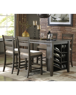 counter height dining table with storage signature design by ashley rokane 5 piece counter height dining OYPKZNC