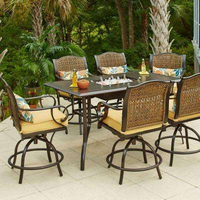 counter height outdoor table and chairs dark brown wicker patio furniture counter height bar height with SQNXBIG