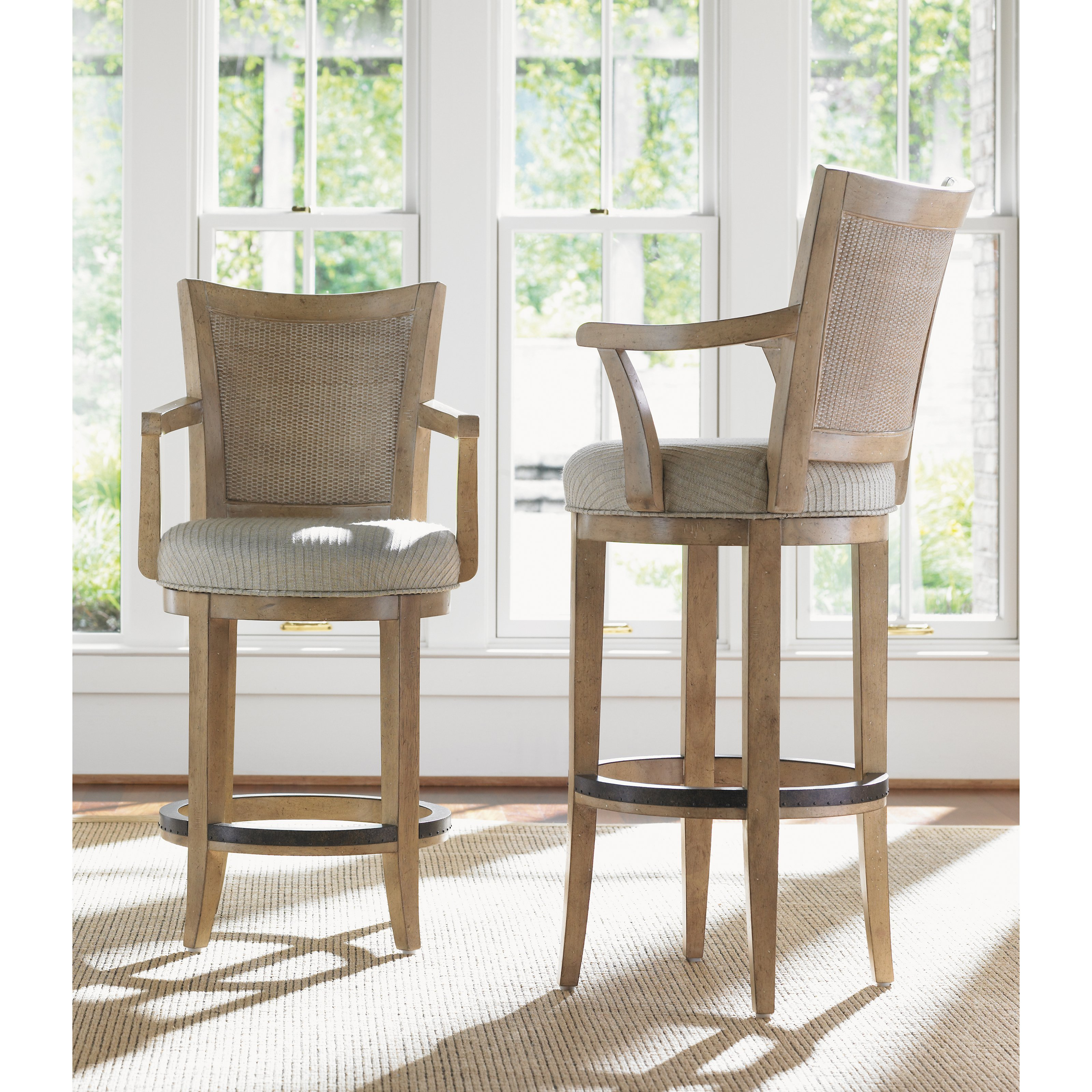 counter height swivel bar stools with arms lexington home brands monterey sands 24.5 in. carmel swivel counter NLSJCMU