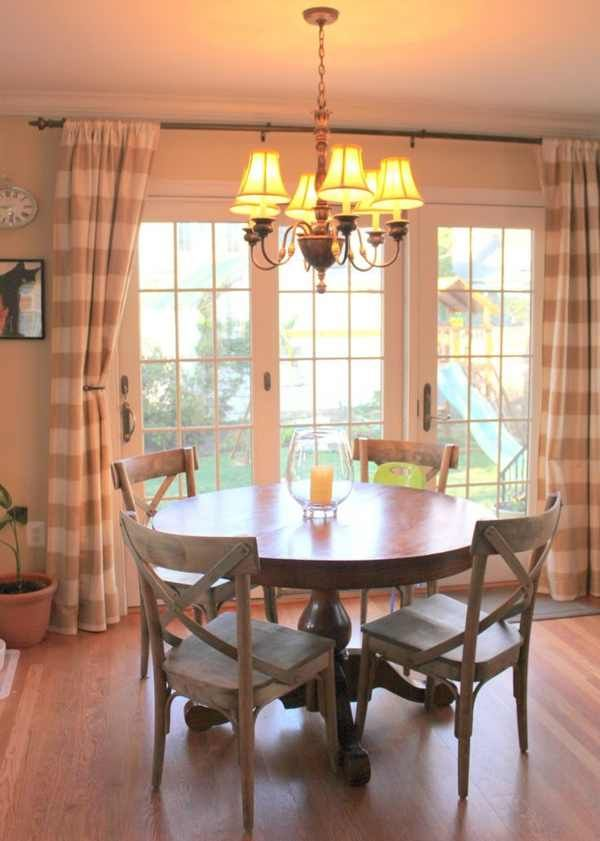 Classy Curtains for Sliding Glass Doors in Kitchen