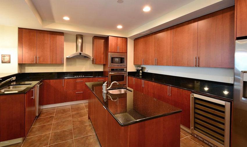 dark cherry kitchen cabinets with granite countertops - 23 cherry wood JMCSDZB