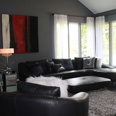 decorating with black furniture in the living room how to decorate a living room with a black leather ILMSMFN