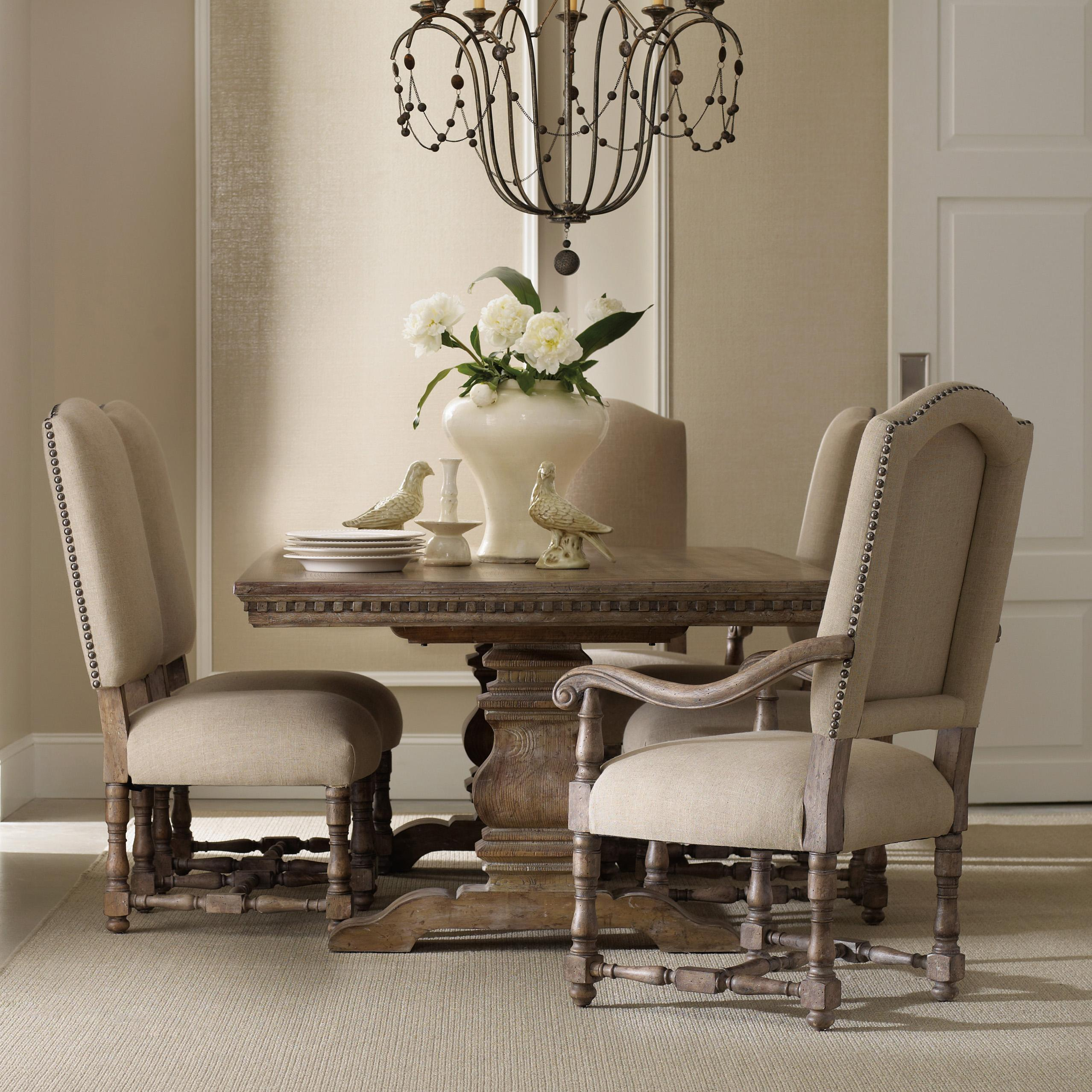 dining room sets with upholstered chairs formal dining set with rectangular table, upholstered arm chairs and DZRFMQG