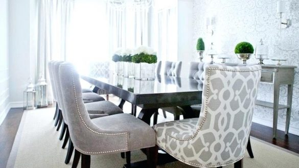 dining room sets with upholstered chairs projects idea tufted dining room sets grey chairs marvelous with HWSIJHG