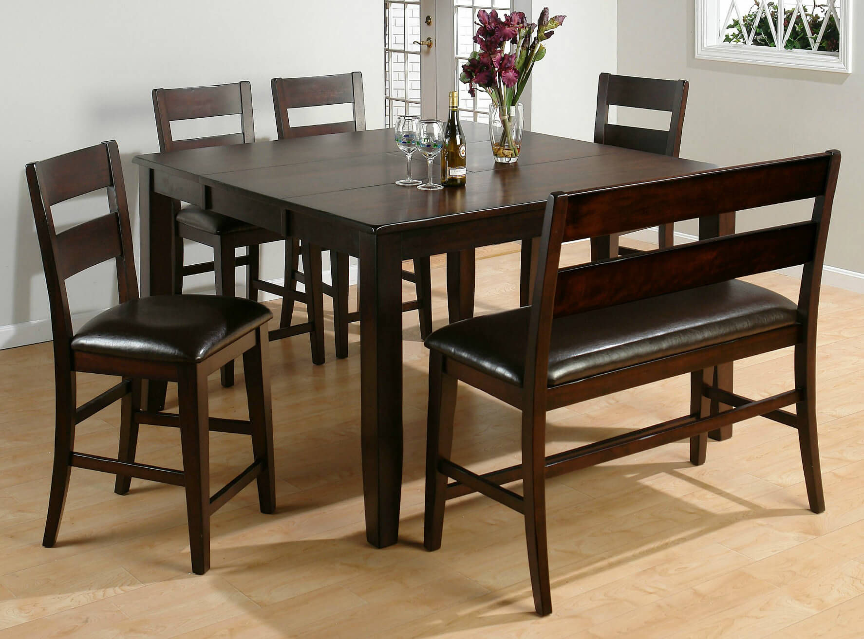 dining room table with bench and chairs 26 big small dining room sets with bench seating dining STQVJHW