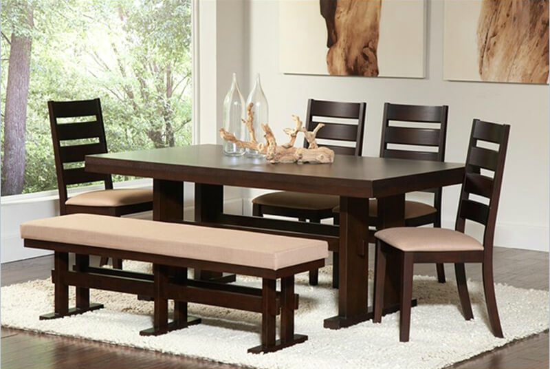 dining room table with bench and chairs impressive modern dining room table with bench with dining room YGOATJE