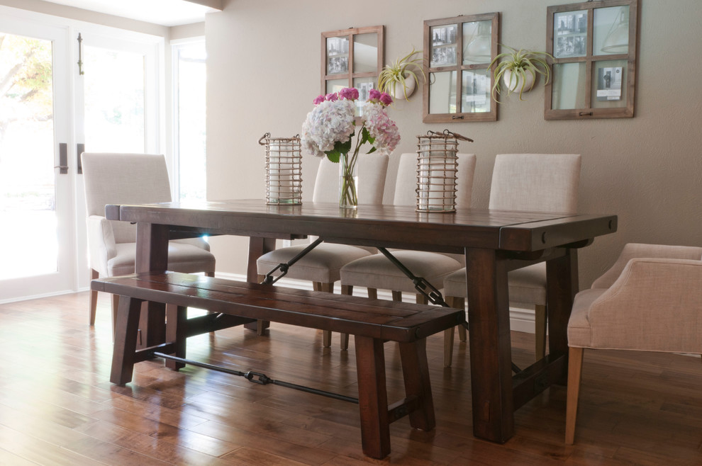 dining room table with bench and chairs upholstered dining bench ideas UQTFDAA