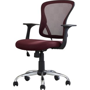 fabric office chairs with arms and wheels clay mid-back mesh desk chair MSSHMID