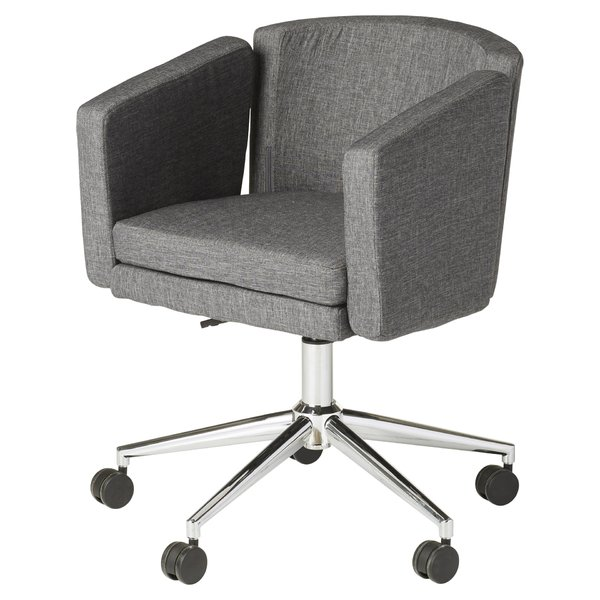 fabric office chairs with arms and wheels fabric office chairs youu0027ll love | wayfair HCFBPOI