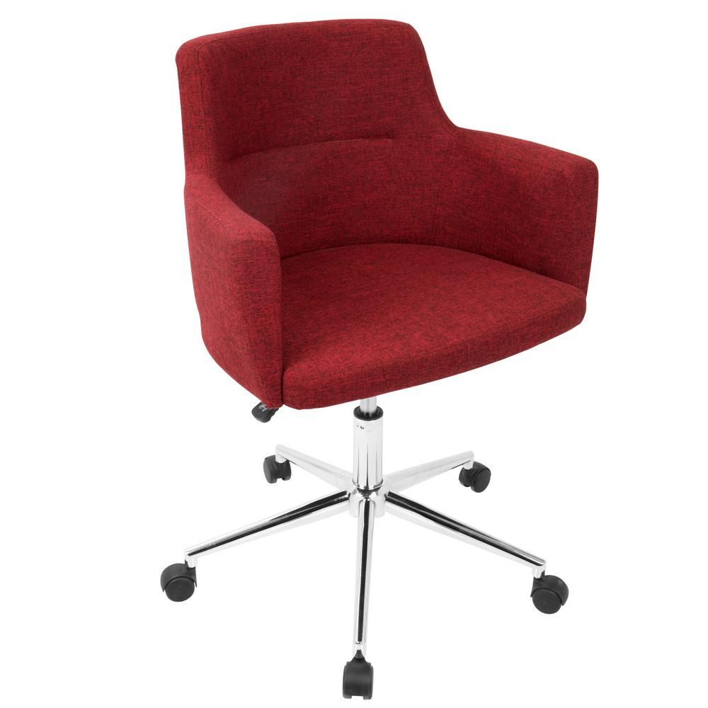 fabric office chairs with arms and wheels living wonderful fabric office chair 0 red lumisource chairs oc KLYNGFQ