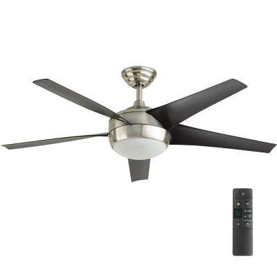flush mount ceiling fans with remote control led indoor brushed nickel ceiling fan with light kit and JNYOVSC