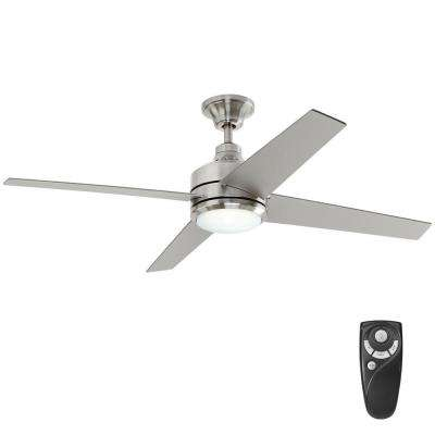 flush mount ceiling fans with remote control led indoor brushed nickel ceiling fan with light kit and QEYTCOY