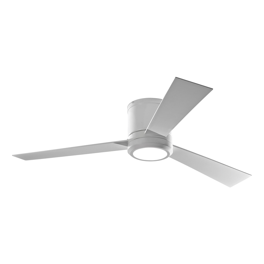 flush mount ceiling fans with remote control monte carlo fan company clarity 52-in rubberized white integrated indoor ZMJLLPV