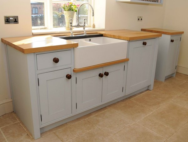 free standing kitchen cabinets with countertops traditional freestanding kitchen sink cabinet with light wood countertop PPQCGDW