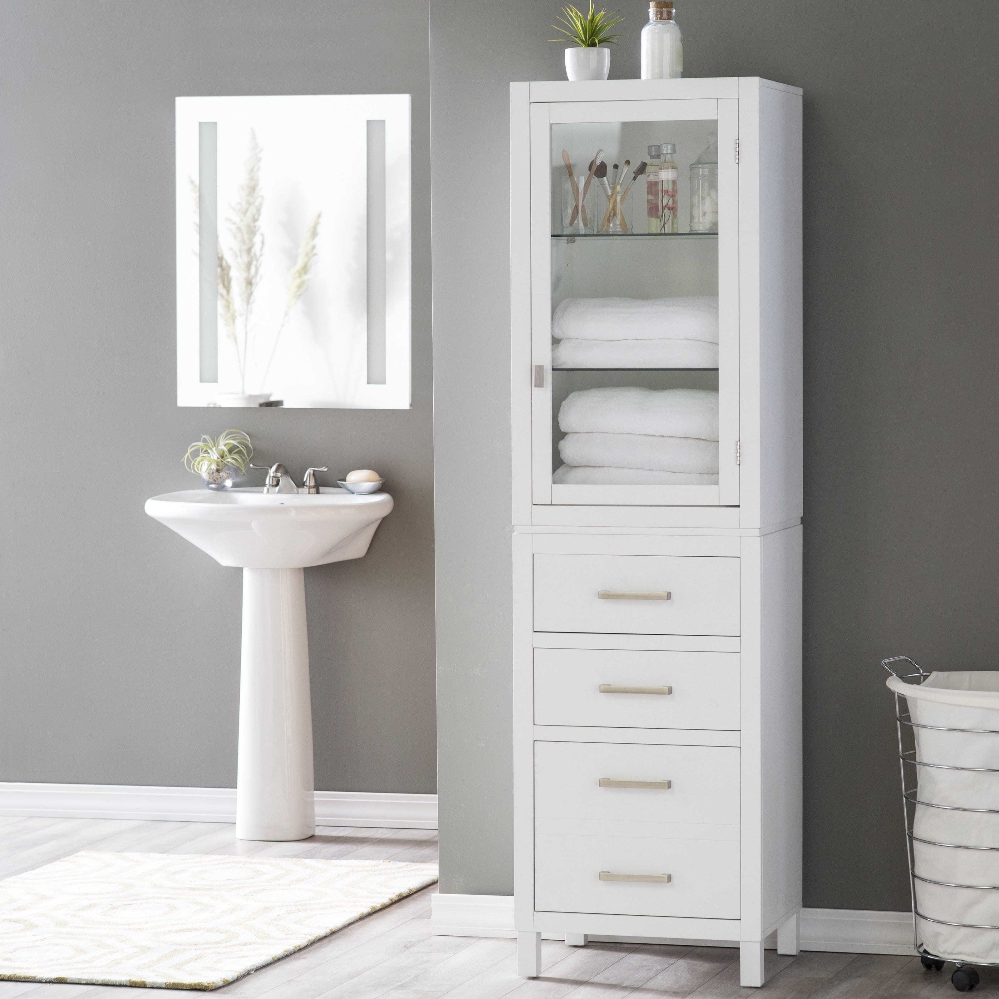 free standing linen cabinets for bathroom image result for modern freestanding linen closet SBOVJQP