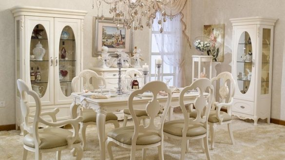 french provincial dining room furniture painted with white inside french OAKFMED