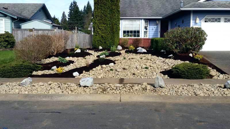front yard landscaping ideas with rocks no grass front yard ZTLJJPR