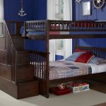 Modern Full Bunk Beds with Trundle and Stairs