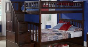 full over full bunk beds with trundle and stairs alternative views: QCEYOKX