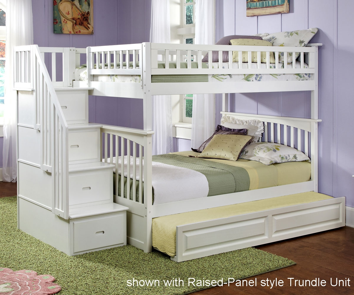 full over full bunk beds with trundle and stairs retail price $1,999.99 LVSEQTC