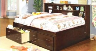 full size captains bed with bookcase headboard king size captains bed f full size captains bed with ELXYCFD
