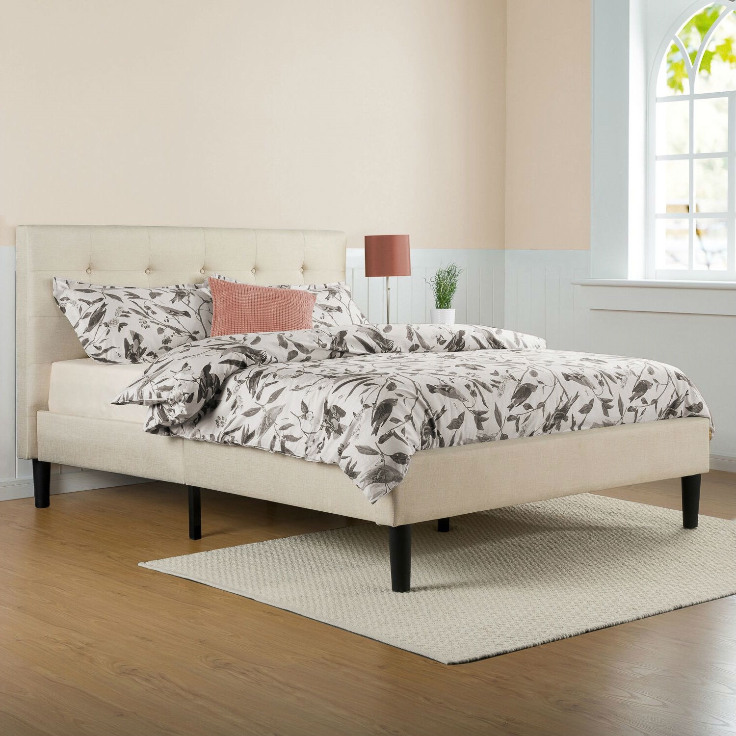 full size platform bed frame with headboard full size taupe beige upholstered platform bed frame with headboard LYVTEYE