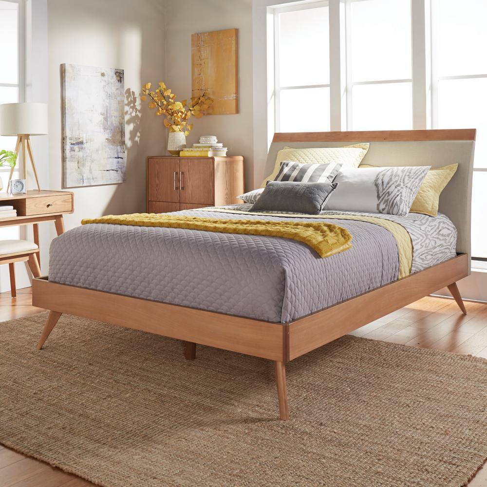 full size platform bed frame with headboard homesullivan holbrook natural full platform bed YDISQHL