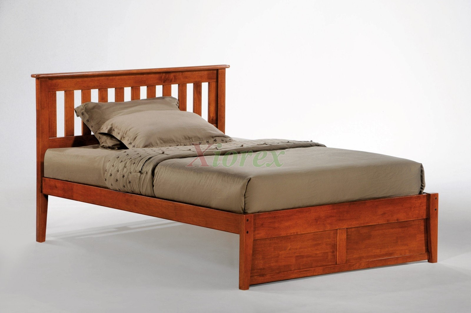 full size wooden bed frame with headboard wood full size headboard OBJWXGO