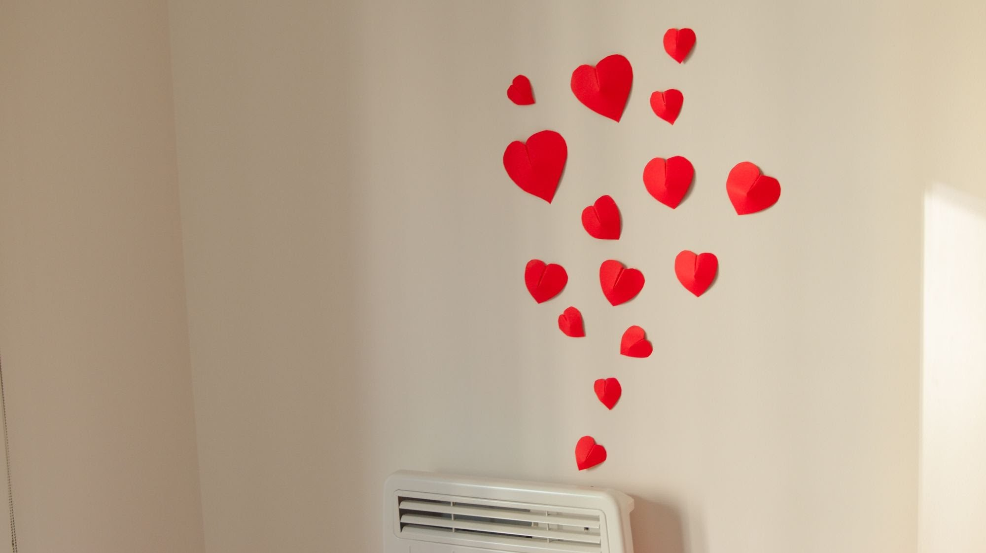 homemade wall decoration ideas for bedroom diy how to make simple 3d heart wall decoration in FHZPRYF