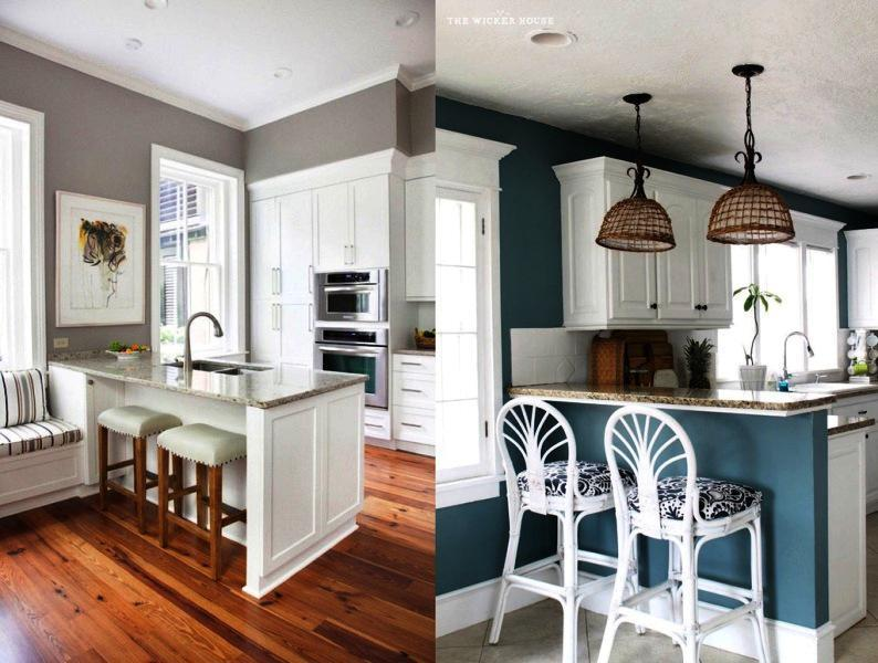image of: kitchen paint colors with white cabinets OVXYTRS