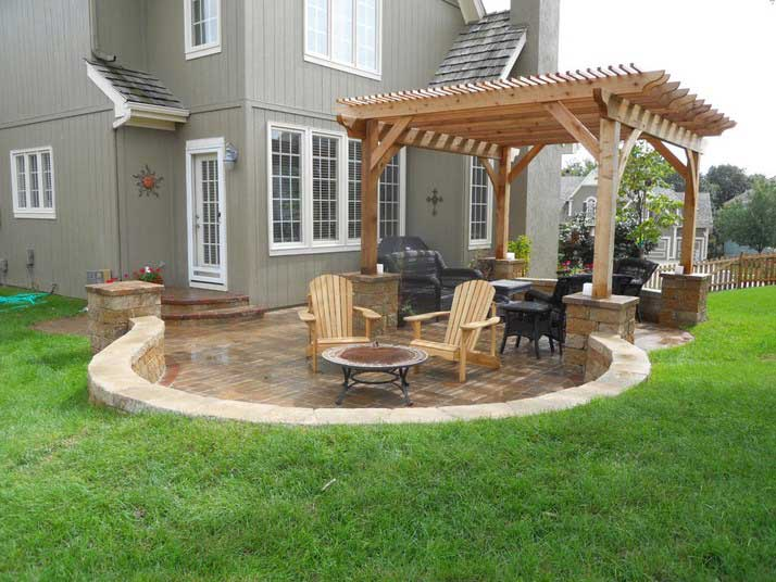 impressive on concrete patio ideas for small backyards decoration backyard RKLNJUJ