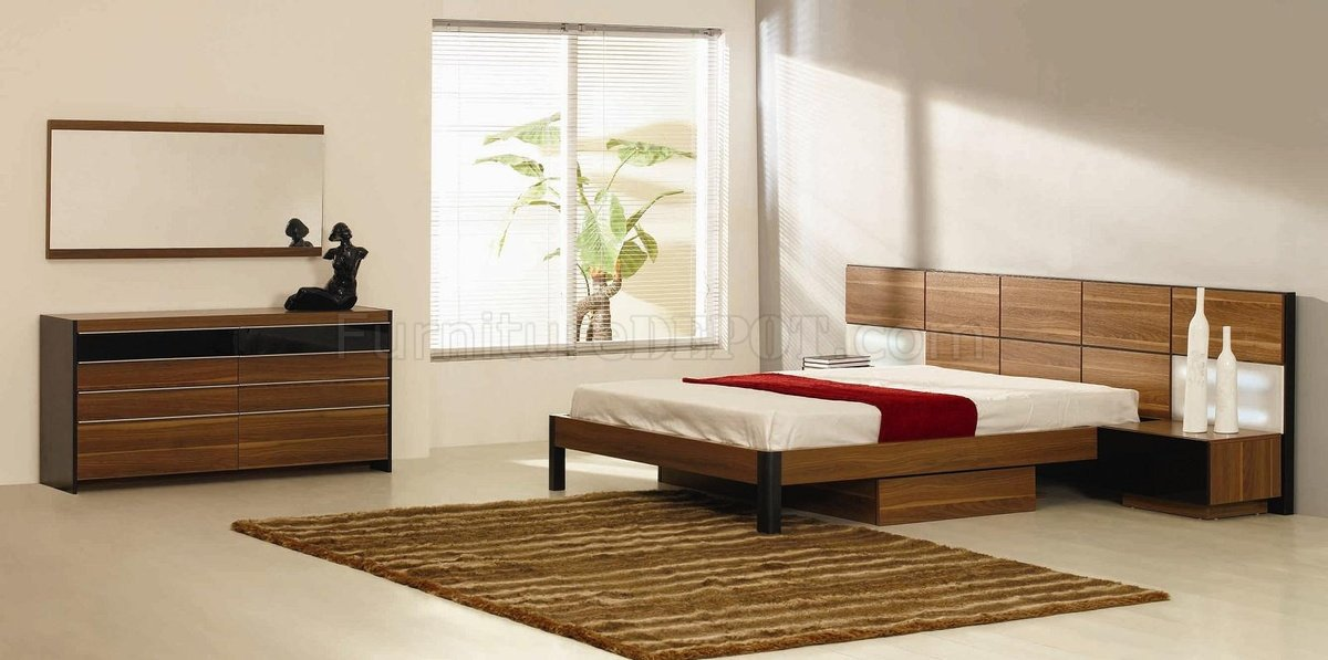 king headboard with built in nightstands rondo bedroom set w/oversized headboard u0026 built-in nightstands AVAZZHO