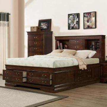 king storage bed with bookcase headboard austin group big louisking transitional storage bed with bookcase ... NXNCTNQ