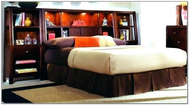 king storage bed with bookcase headboard bed ... AQYXDYF