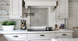 kitchen backsplash ideas with white cabinets ... geometric tile kitchen backsplash ASMFLDK