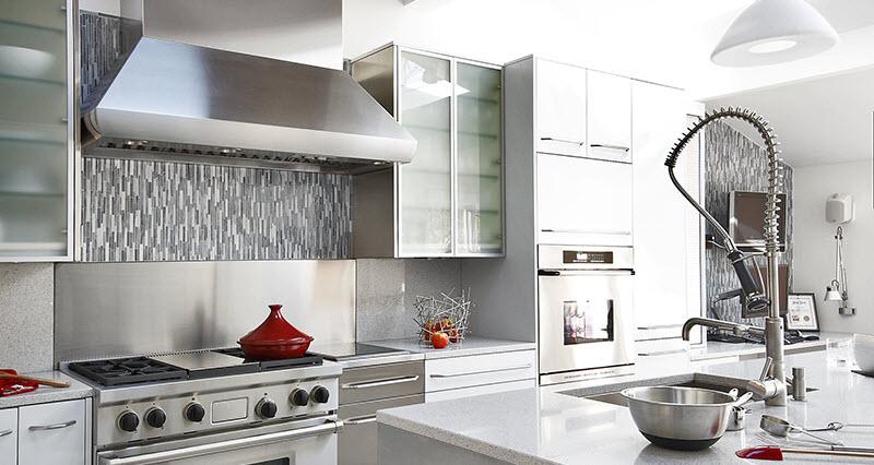 kitchen backsplash ideas with white cabinets stainless steel kitchen backsplash GJFUYLP