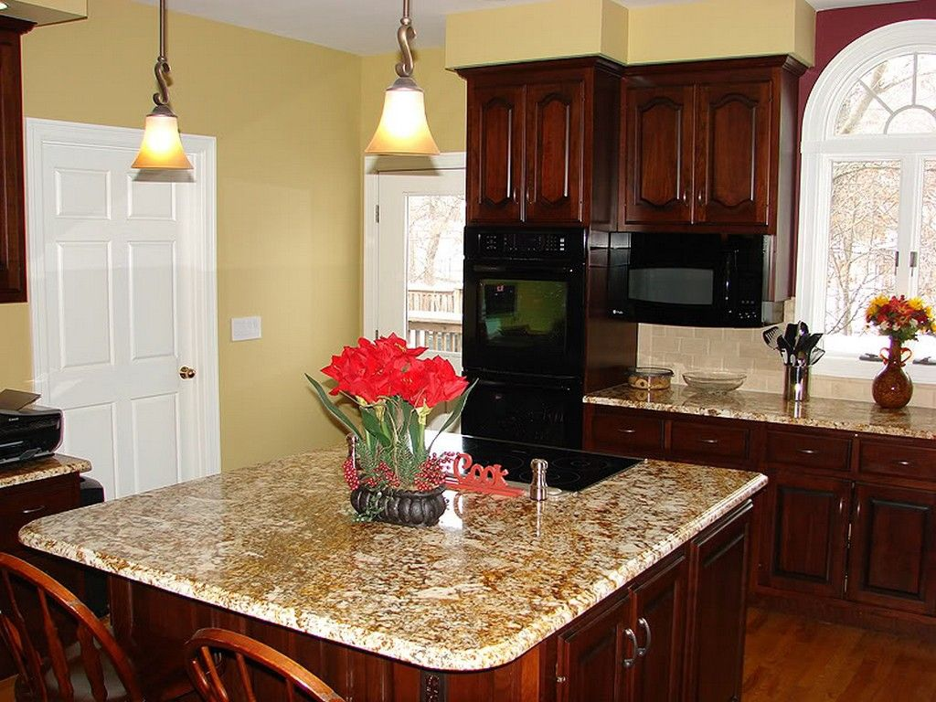 kitchen color schemes with cherry cabinets eye catching two tone kitchen color schemes diy best wall RCZNQXZ
