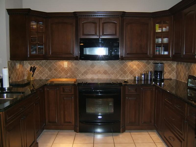 kitchen color schemes with cherry cabinets image of: cherry kitchen cabinet color schemes photos FGNZMSO