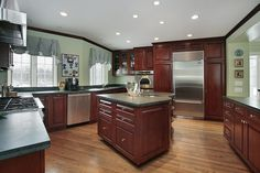 kitchen color schemes with cherry cabinets several cherry kitchen cabinet pictures :) | house | pinterest FPAISEV